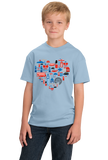 Youth Light Blue UK Icon Heart - UK Love Pride Culture Symbols Cute Fun Royal T-shirt