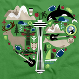 Washington Love, Icon Heart Green art preview