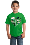 Youth Green Washington Icon Heart - Washington Love Pride Culture State Cute T-shirt