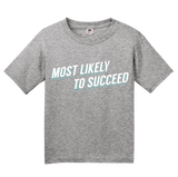 Youth Grey Most Likely To Succeed - Ironic Nerd High School Humor T-shirt