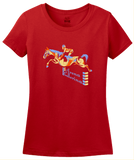 Ladies Red Arena Ballerina - Equestrian Horseback Riding Love Horse Lover T-shirt