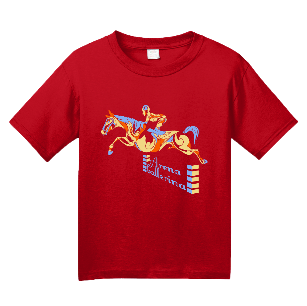 Youth Red Arena Ballerina - Equestrian Horseback Riding Love Horse Lover T-shirt