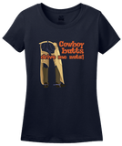 Ladies Navy Cowboy Butts Drive Me Nuts - Cowboy Lover Rodeo Rider Love Cute T-shirt