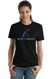Ladies Black May The Horse Be With You - Horseback Riding Star Wars Pun Funny T-shirt