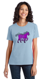 Ladies Light Blue Horse Girls Rule - Horseback Riding My Little Pony Cute Girly T-shirt