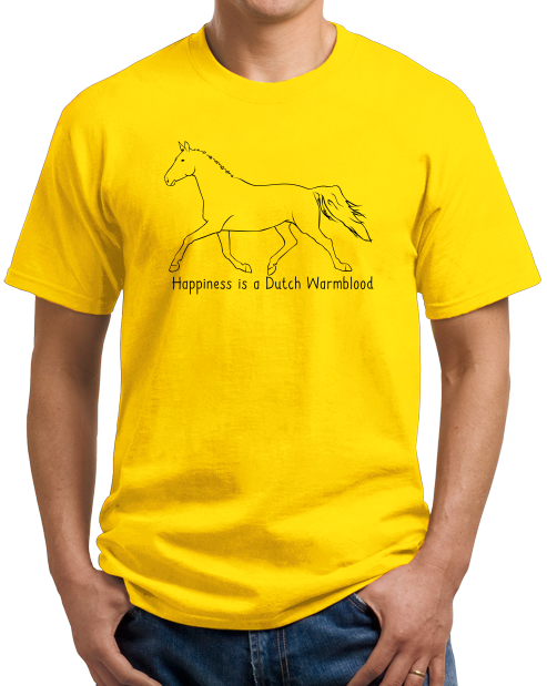 Standard Yellow Happiness is a Dutch Warmblood - Horse Lover Favorite Breed Cute T-shirt