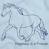 Happiness is a Friesian | Horse Lover Light blue art preview