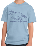 Youth Light Blue Happiness is a Gypsy Vanner - Horse Lover Breed Gypsy Vanner Cob T-shirt