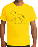 Standard Yellow Happiness is a Hanoverian - Horse Love Favorite Breed Hanoverian T-shirt