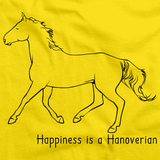 Happiness Is A Hanoverian | Horse Lover Yellow Art Preview