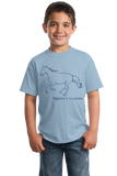 Youth Light Blue Happiness is a Lusitano - Horse Lover Favorite Breed Lusitano T-shirt