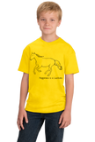 Youth Yellow Happiness is a Lusitano - Horse Lover Favorite Breed Lusitano T-shirt