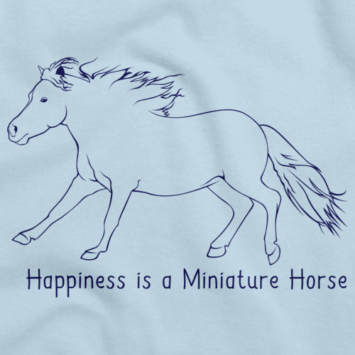 Happiness is a Miniature | Horse Lover Light blue art preview