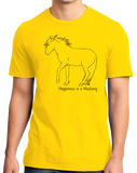 Standard Yellow Happiness is a Mustang - Horse Lover Favorite Breed Mustang Cute T-shirt