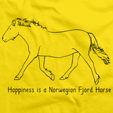 Happiness is a Norwegian Fjord | Horse Lover Yellow art preview