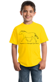 Youth Yellow Happiness is a Norwegian Fjord - Horse Love Favorite Breed Fjord T-shirt
