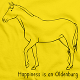 Happiness is an Oldenburg | Horse Lover Yellow art preview