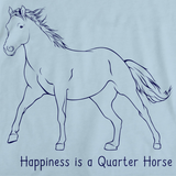 Happiness is a Quarter | Horse Lover Light blue art preview