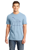 Standard Light Blue Happiness is a Quarter - Horse Lover Favorite Breed Quarter Gift T-shirt