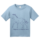 Youth Light Blue Happiness is a Quarter - Horse Lover Favorite Breed Quarter Gift T-shirt