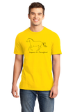 Standard Yellow Happiness is a Thoroughbred - Horse Lover Bloodhorse Favorite T-shirt
