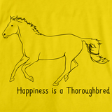 Happiness is a Thoroughbred | Horse Lover Yellow art preview