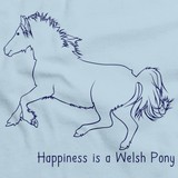 Happiness is a Welsh Pony and Cob | Horse Lover Light blue art preview