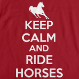 KEEP CALM AND RIDE HORSES Red art preview