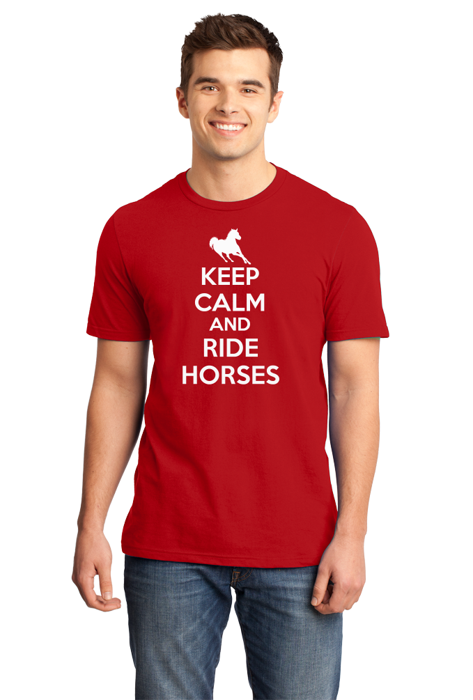 Standard Red KEEP CALM AND RIDE HORSES T-shirt