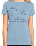 Ladies Light Blue Boys, Girls, & Andalusians = Kids - Horse Family Love Andalusian T-shirt