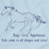 Boys, Girls, & Appaloosas = Kids | Horse Lover Light blue art preview