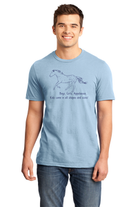 Standard Light Blue Boys, Girls, & Appaloosas = Kids - Horse Family Love Appaloosas T-shirt