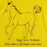 Boys, Girls, & Arabians = Kids | Horse Lover Yellow art preview