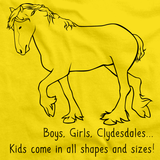 Boys, Girls, & Clydesdales = Kids | Horse Lover Yellow Art Preview