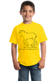 Youth Yellow Boys, Girls, & Clydesdales = Kids - Horse Family Love Clydesdale T-shirt