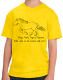 Youth Yellow Boys, Girls, & Gypsy Vanners = Kids - Horse Family Gypsy Love T-shirt