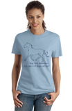 Ladies Light Blue Boys, Girls, & Hanoverians = Kids - Horse Love Family Hanoverian T-shirt