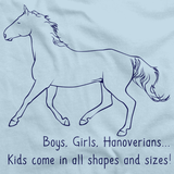Boys, Girls, & Hanoverians = Kids | Horse Lover Light blue art preview