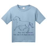 Youth Light Blue Boys, Girls, & Hanoverians = Kids - Horse Love Family Hanoverian T-shirt