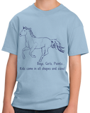 Youth Light Blue Boys, Girls, & Paints = Kids - Horse Lover Family Paint Cute T-shirt