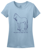 Ladies Light Blue Boys, Girls, & Shires = Kids - Horse Lover Family Shire Cute T-shirt