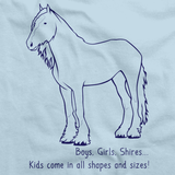 Boys, Girls, & Shires = Kids | Horse Lover Light blue art preview