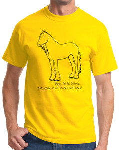 Standard Yellow Boys, Girls, & Shires = Kids - Horse Lover Family Shire Cute T-shirt