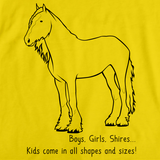 Boys, Girls, & Shires = Kids | Horse Lover Yellow art preview