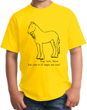 Youth Yellow Boys, Girls, & Shires = Kids - Horse Lover Family Shire Cute T-shirt