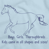 Boys, Girls, & Thoroughbreds = Kids | Horse Lover Light blue art preview