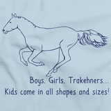Boys, Girls, & Trakehners = Kids | Horse Lover Light blue art preview