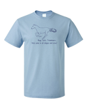Standard Light Blue Boys, Girls, & Trakehners = Kids - Horse Lover Trakehner Family T-shirt