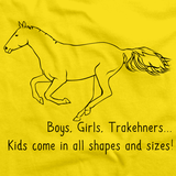 Boys, Girls, & Trakehners = Kids | Horse Lover Yellow art preview