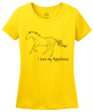 Ladies Yellow I Love my Appaloosa - Horse Lover Appaloosa Breed Favorite T-shirt